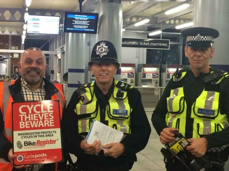 Cycle Marking With British Transport Police & Cyclepods
