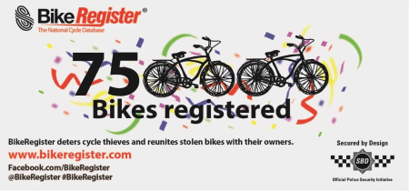 BikeRegister Reaches 750,000 Registration Milestone
