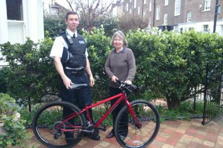 London Woman Reunited With Stolen Bike After BikeRegister Check