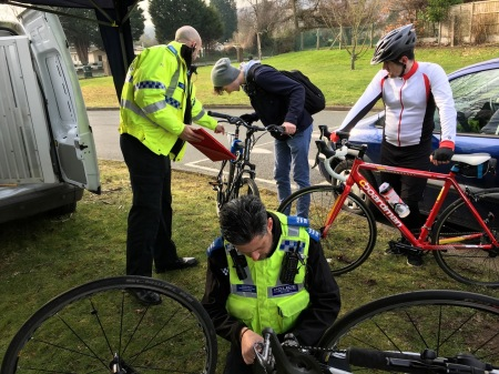 Officers Put Shield Around Bike Theft