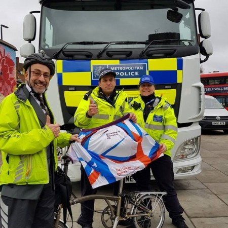 Professor Gets Bike Marked On Way To Receive Knighthood