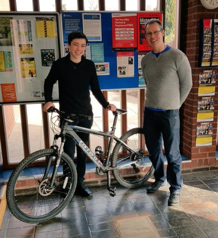 Teenager Reunited With Stolen Bike