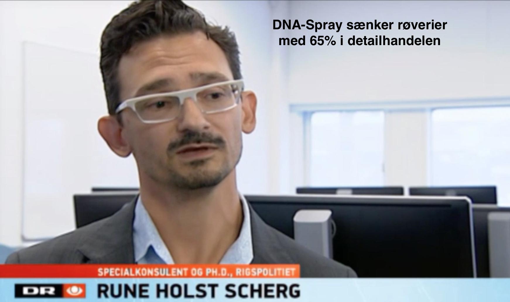 DNA-Spray sænkede røverier med 65% i detailhandelen
