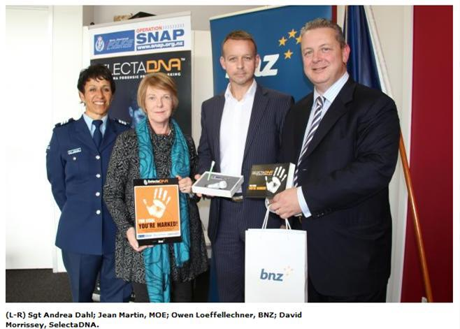 Burglar-proof DNA kits given to South Island schools