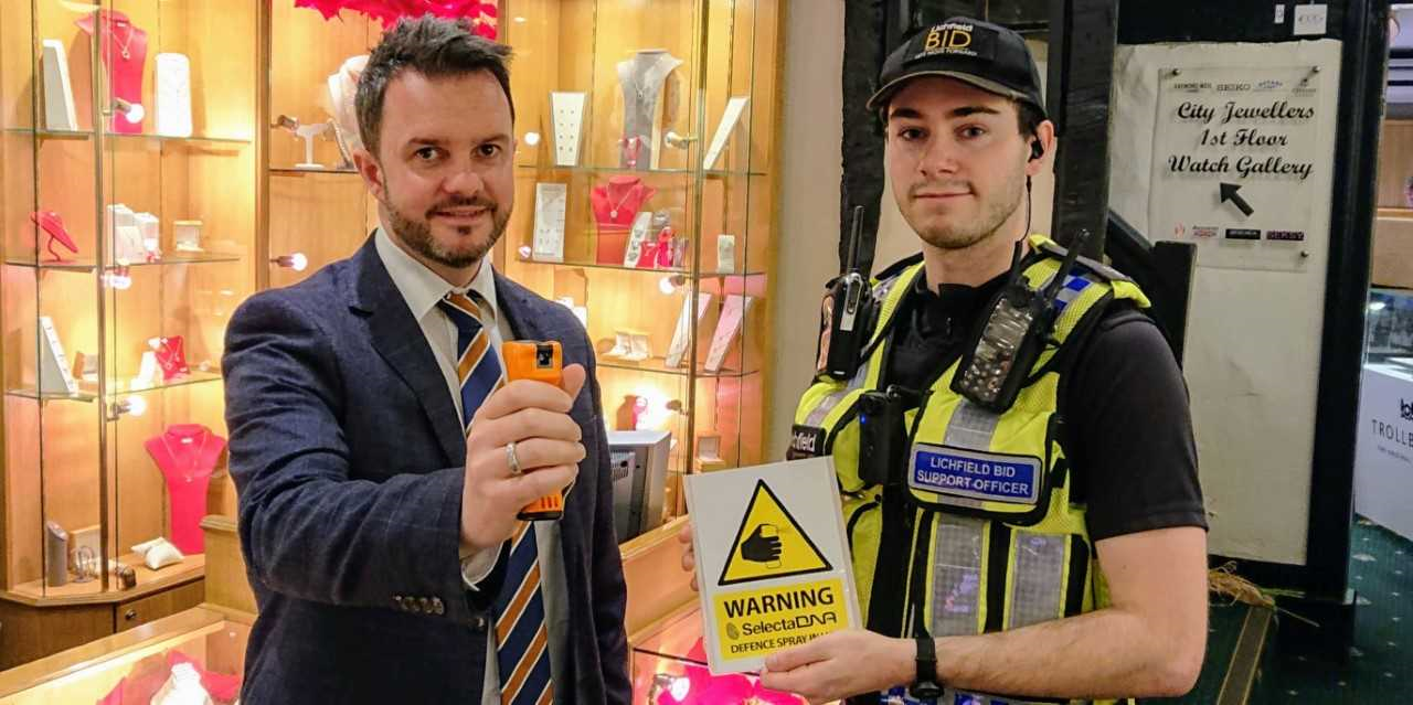 First BID Deploys DNA Defence Spray To Protect Jewellery Stores