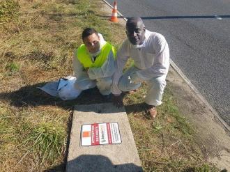 2eme chantier pour la protection de câbles pour le groupe Orange Telecom