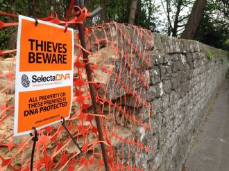 Historic Wall Protected After Stone Theft