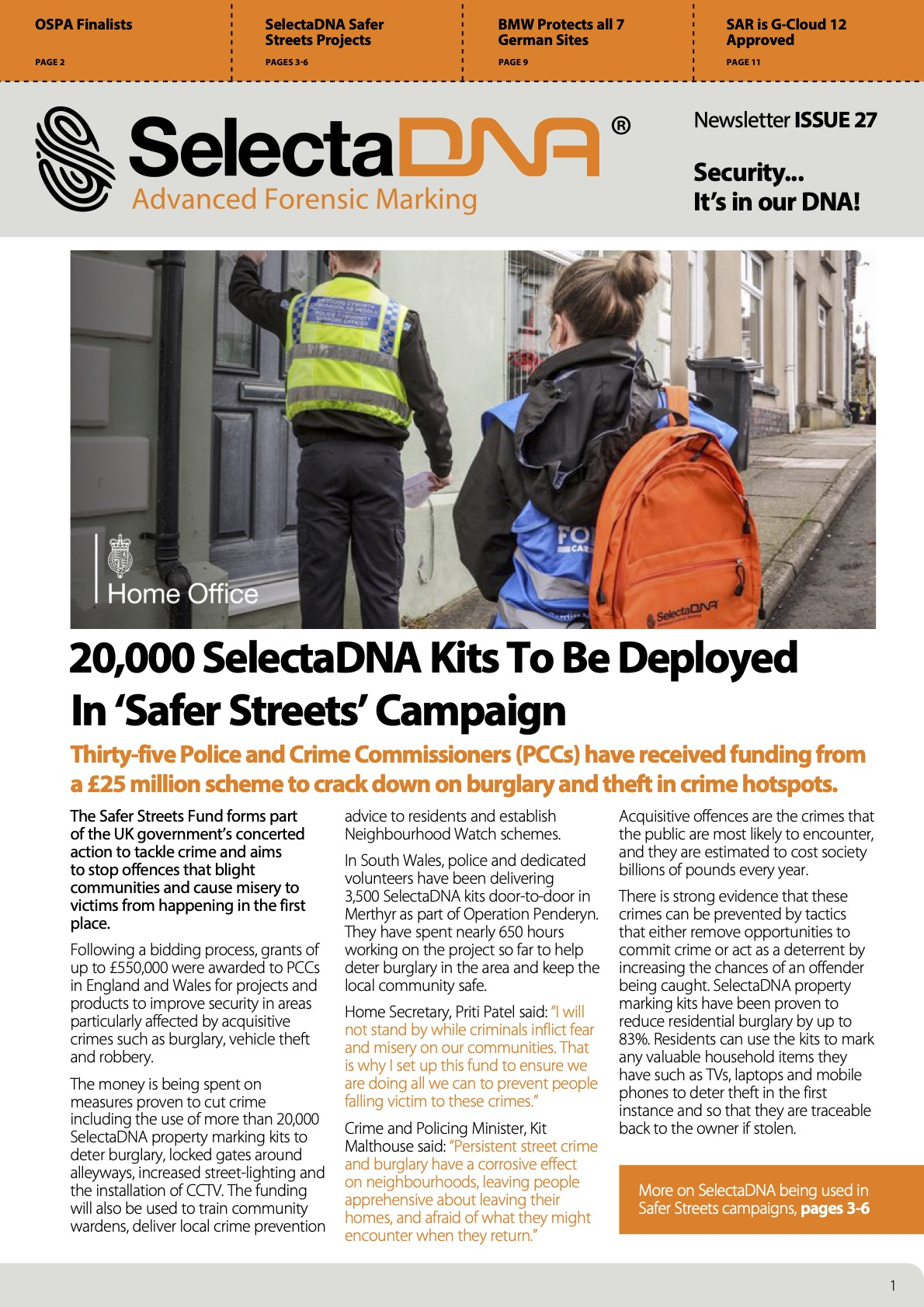 SelectaDNA Newsletter Issue 27