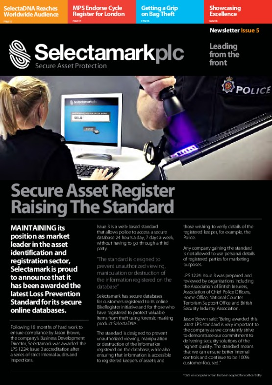 SelectaDNA Newsletter Issue 5