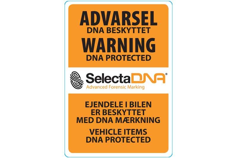 SelectaDNA personbil/Varevogn Sikringsmærke