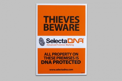 SelectaDNA Warning Sign (self-adhesive)