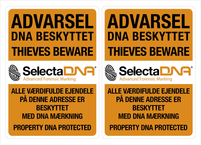 SelectaDNA Dobbeltsidet Vindues Sikringsmærker