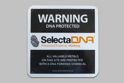 SelectaDNA Grease Outdoor Warning Sign (Black 15x15cm)