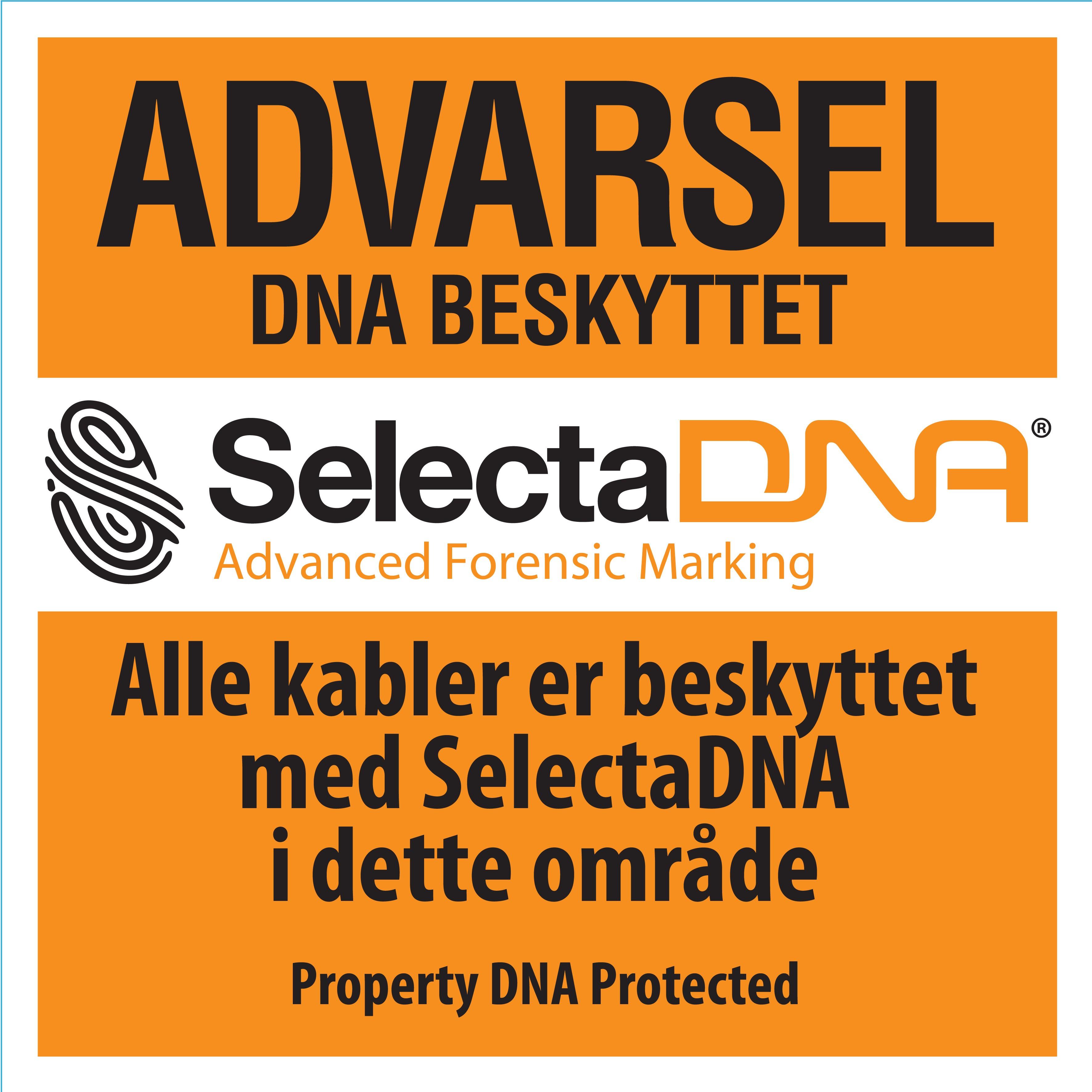 SelectaDNA Metal Advarsels Skilt (30x30cm)