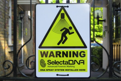 SelectaDNA Spray Warning Sign (Foamex)