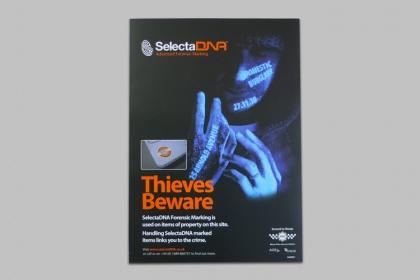 SelectaDNA A3 Warning Poster