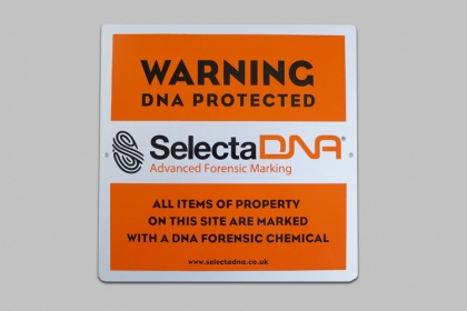 SelectaDNA Outdoor Warning Sign (Orange)
