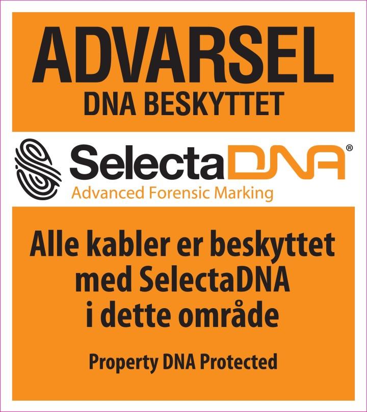 SelectaDNA Advarsels Skilt (Orange 30x30cm)