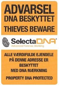 SelectaDNA Dør Sikringsmærke