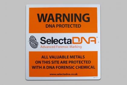 SelectaDNA Segnale Per Esterno Contro Il Furto Di Metalli (30x30 cm)