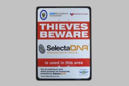SelectaDNA Police Sign