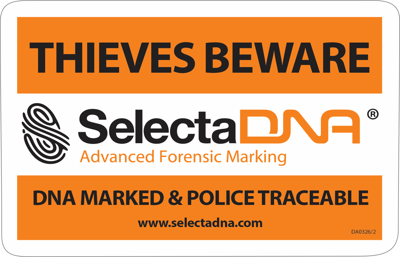 SelectaDNA Warning Sticker (150x100mm)