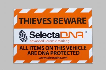 SelectaDNA Adesivo Di Avvertimento Per Auto