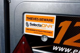 SelectaDNA Warning Sticker (120x80mm) thumbnail