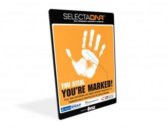 SelectaDNA Warning SIgn A4 thumbnail