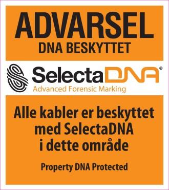 SelectaDNA Advarsels Skilt (Orange 30x30cm) thumbnail