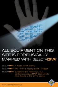 SelectaDNA Warning Poster (Hand) thumbnail